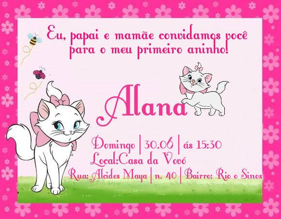 Cantinho Da Laureen Convites
