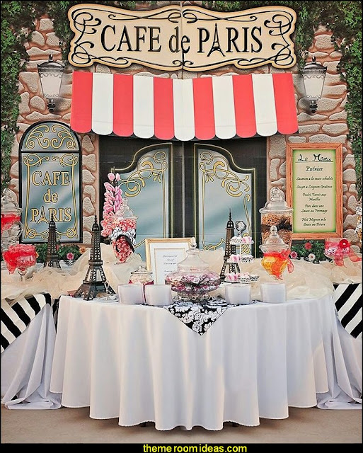 Cafe de Paris party prop kit  Paris party decorations - Paris themed party supplies - Party in Paris Birthday Party Decorations  -  Pink Paris Party -  Paris party balloons - Eiffel Tower Favor Boxes -  French-themed celebration  - Pink Poodle Paris Theme Birthday Party