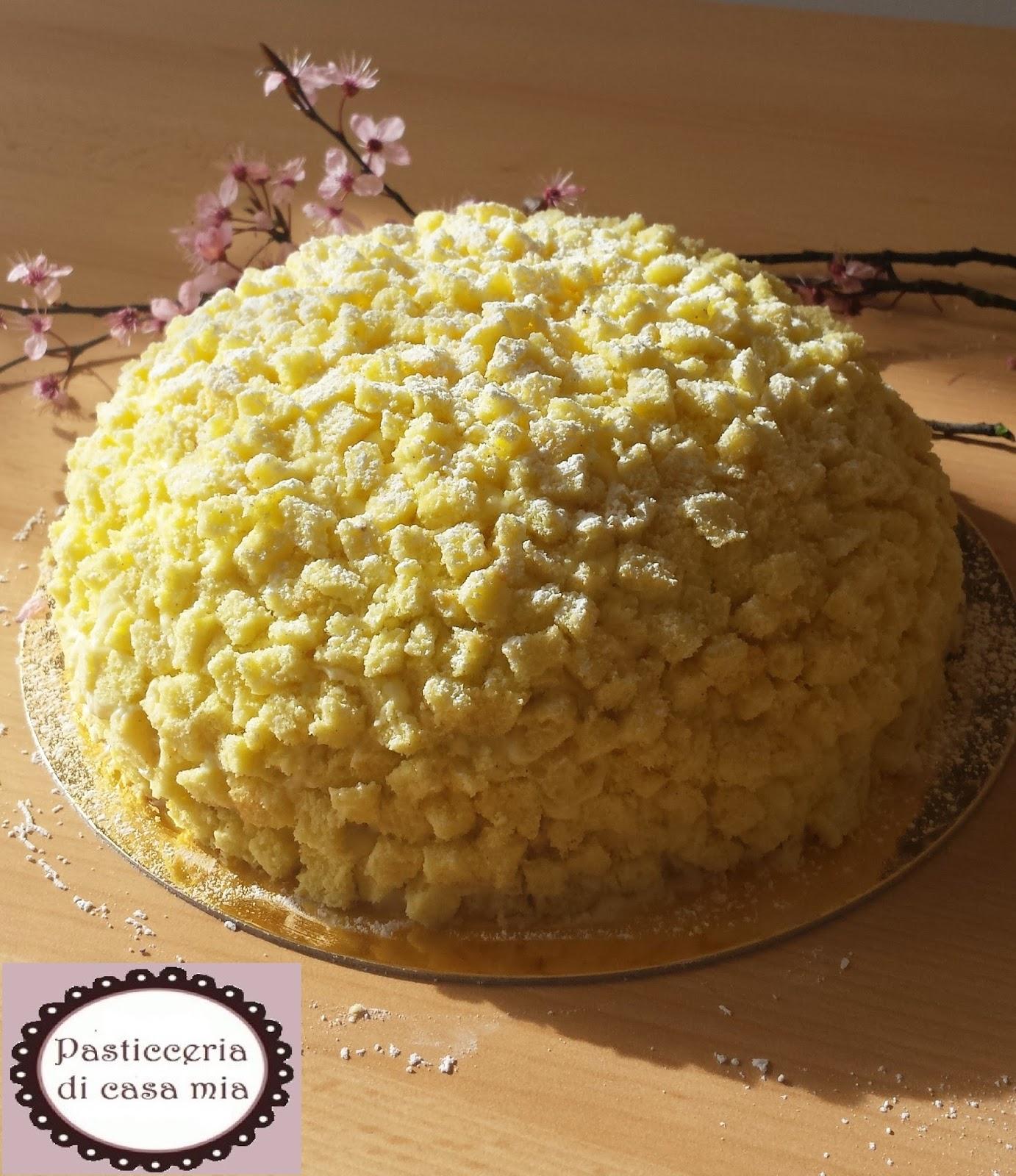 Pasticceria di casa mia zuccotto di torta mimosa for Decorazione zuccotto