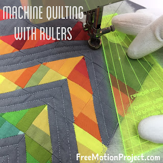 Machine quilting with rulers on a home machine