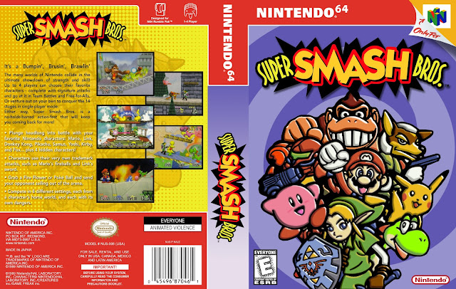 Capa Super Smash Bros Nintendo 64