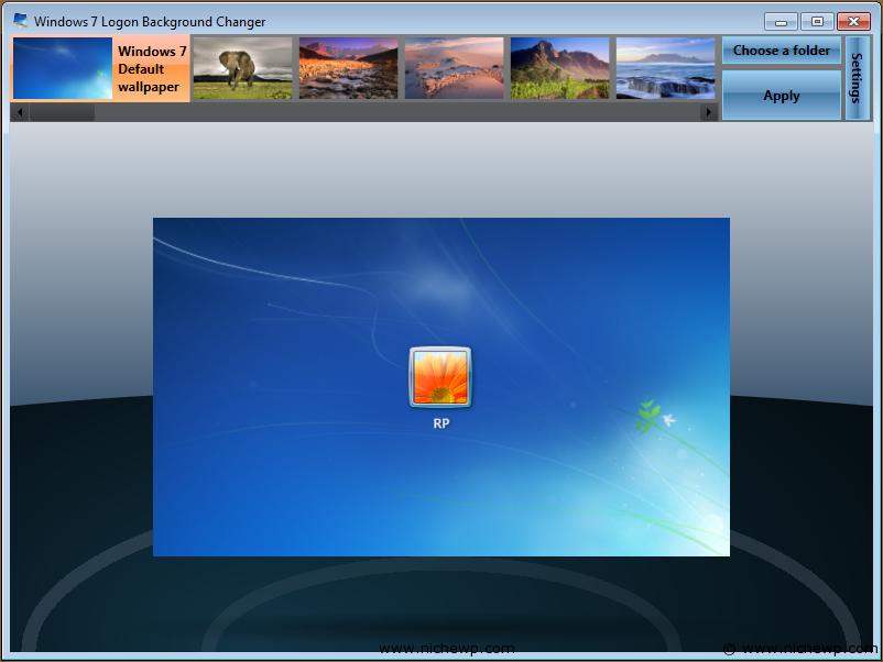 It software sharing windows 7 logon background - Windows 7 wallpaper changer software ...