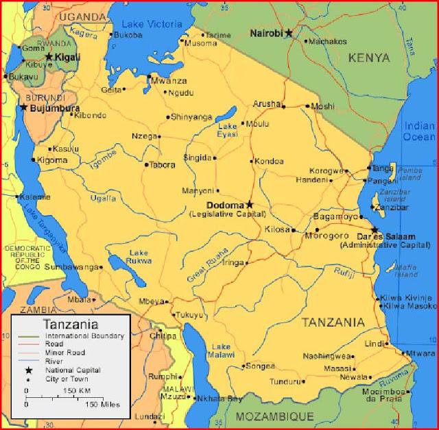 Gambar Peta Tanzania