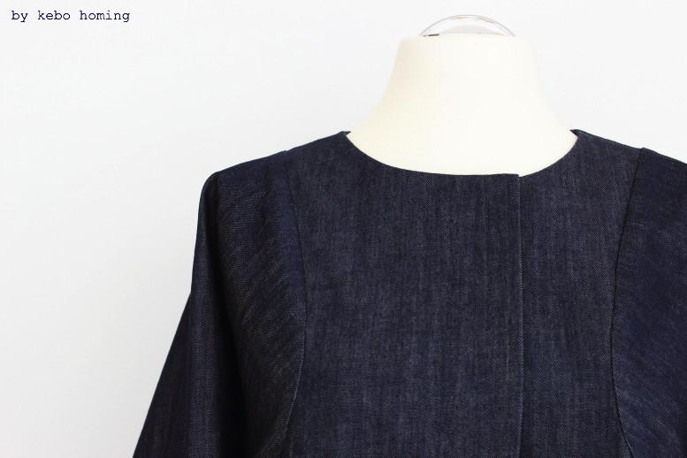 Jeansjacke clean minimalistisch linear, Jeans neu interpretiert, elegante Jeansjacke DIY selbst genäht auf dem Südtiroler Food- und Lifestyleblog kebo homing