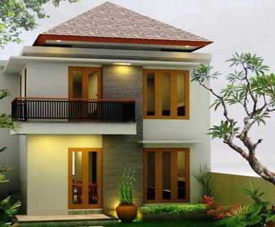 bentuk rumah 2 lantai minimalis di kampung
