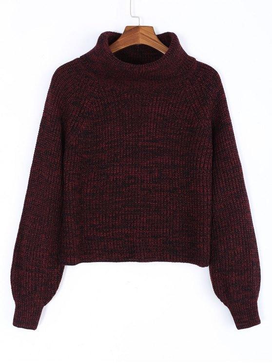Turtleneck Heathered Pullover Sweater