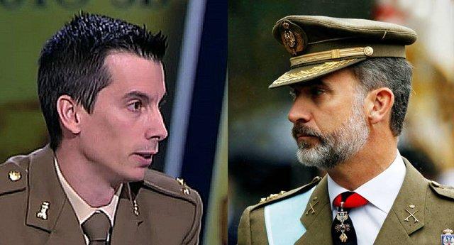 Duras declaraciones del exteniente Segura contra Felipe VI