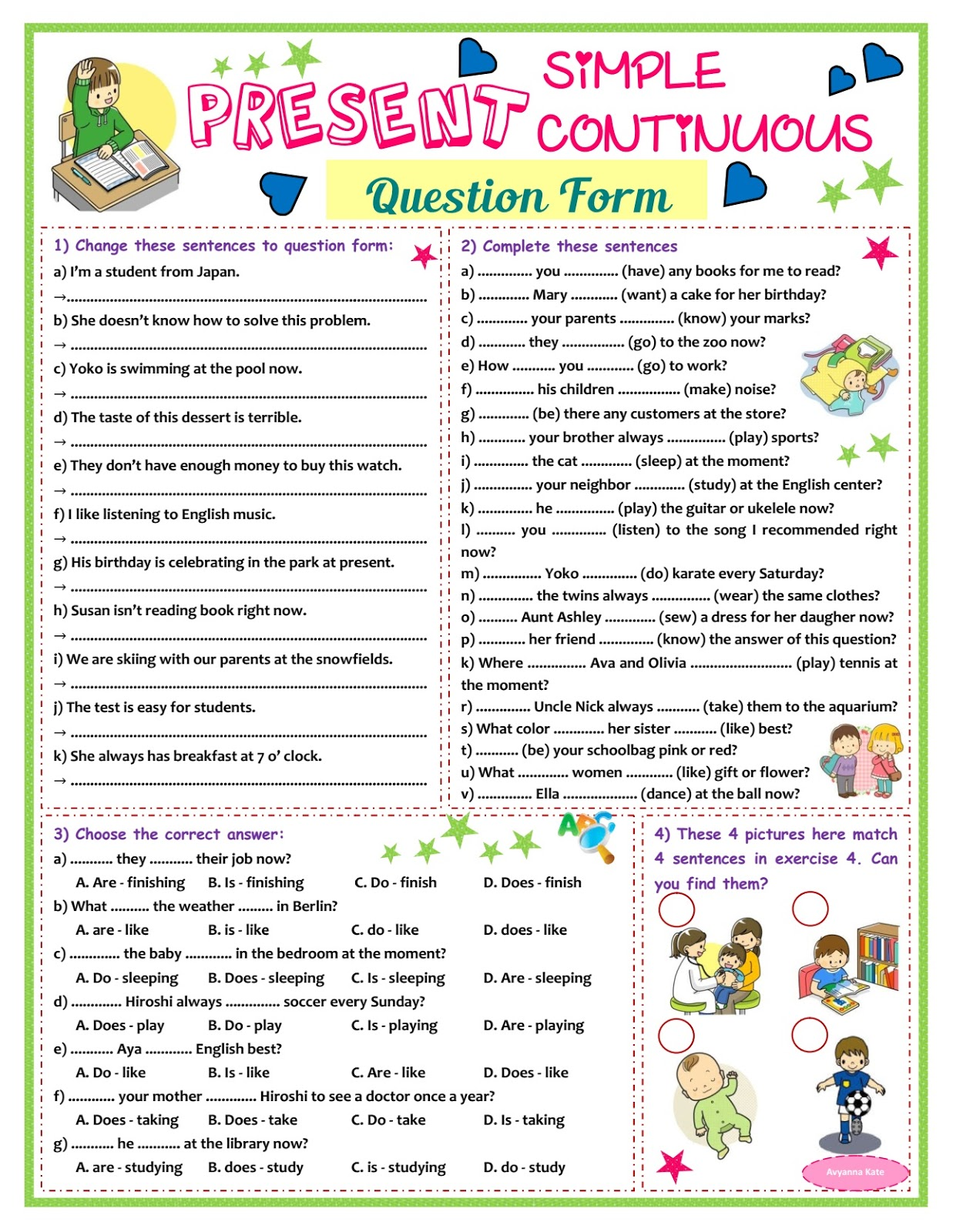 small resolution of Present Contieous Tense Worksheets Grade 6   Printable Worksheets and  Activities for Teachers