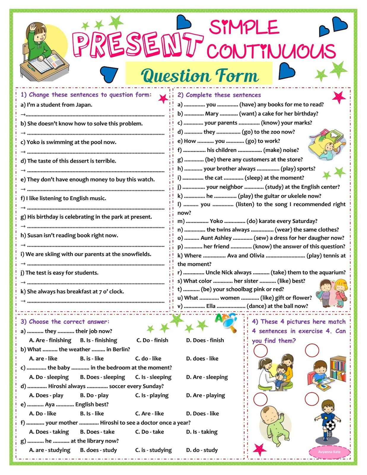 Present Contieous Tense Worksheets Grade 6   Printable Worksheets and  Activities for Teachers [ 1600 x 1237 Pixel ]