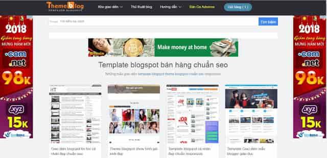 Hướng dẫn tạo quảng cáo adsense hai bên web blogspot