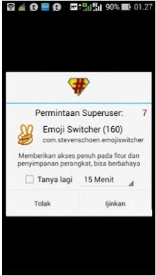 Cara Menggunakan Emoji Switcher (root) v2.02 Apk