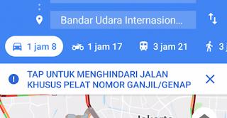 Baru Google Maps Kembangkan Fitur Ganjil Genap Untuk Pengguna Mobil