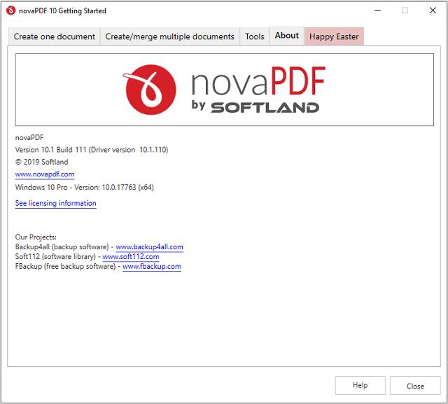 تحميل برنامج تصميم وتحويل الملفات النصية إلى ملفات بي دي إف novaPDF للويندوز