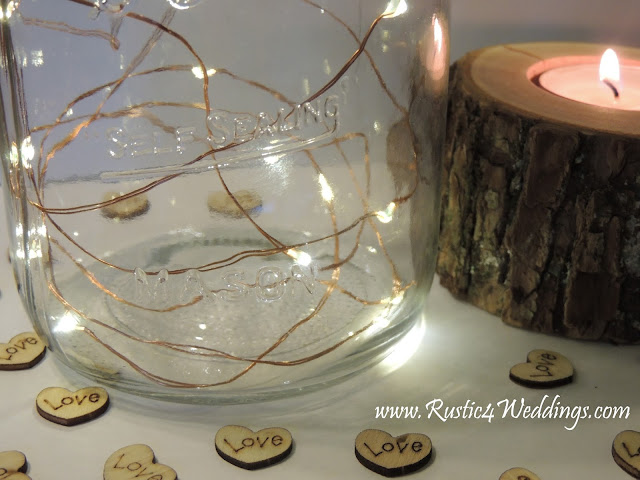 Fairy Lights LED copper strand battery powered string lights for Rustic Weddings