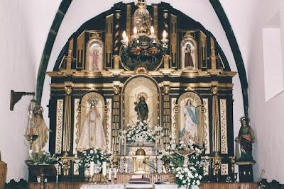 Retablo en la iglesia de San Roque de Oviñana