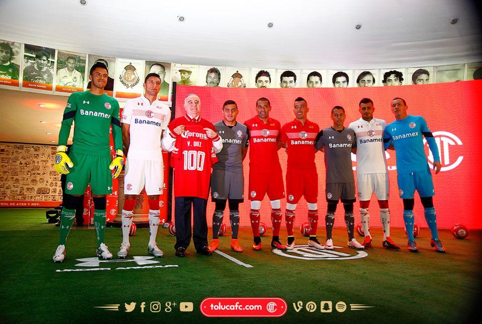 Camisas de Futebol  Camisas do Toluca para a temporada 2016-17 f2ebedd6c3876