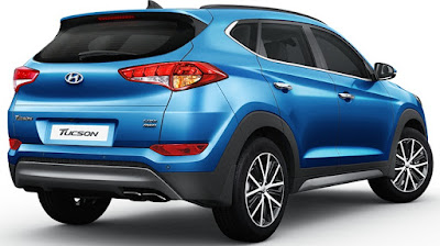 The all new Hyundai Tucson SUV Rear view Hd Photo