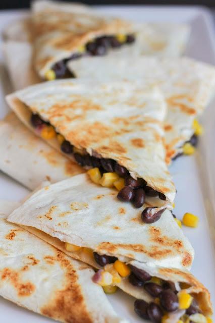 Black Bean, Corn & Pepperjack Quesadillas   The Chef Next Door