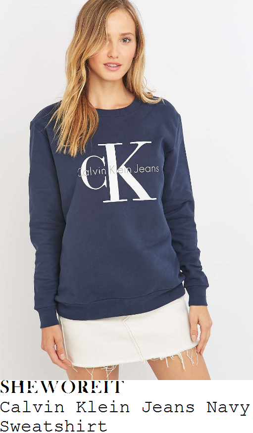 caroline-flack-calvin-klein-jeans-navy-blue-white-and-grey-initial-brand-slogan-print-long-sleeve-relaxed-fit-sweatshirt