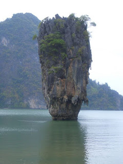 Ko Tapu at James Bond Island in Phang Nga Bay Thailand