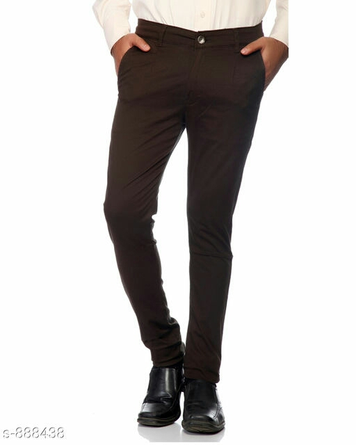 Stylish Men's Denim Solid Trouser