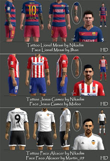 Faces + Tattoo Pack V2 Pes 2013 By Nikadim