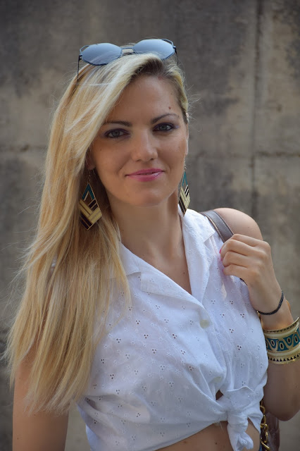 outfit camicia annodata mariafelicia magno fashion blogger colorblock by felym outfit luglio 2016 outfit estivi summer outfits july outfits fashion blogger italiane fashion bloggers italy