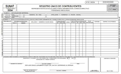 sunat formulario 2054