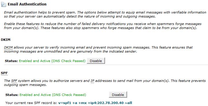 halaman email authentication - faberhost.com