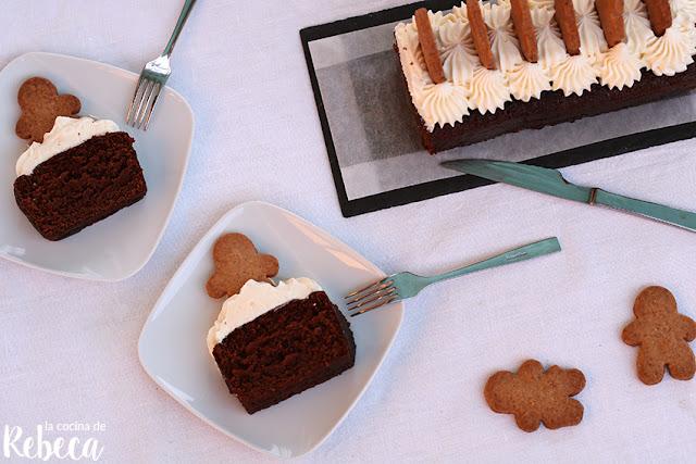 Bizcocho 'gingerbread' de Navidad