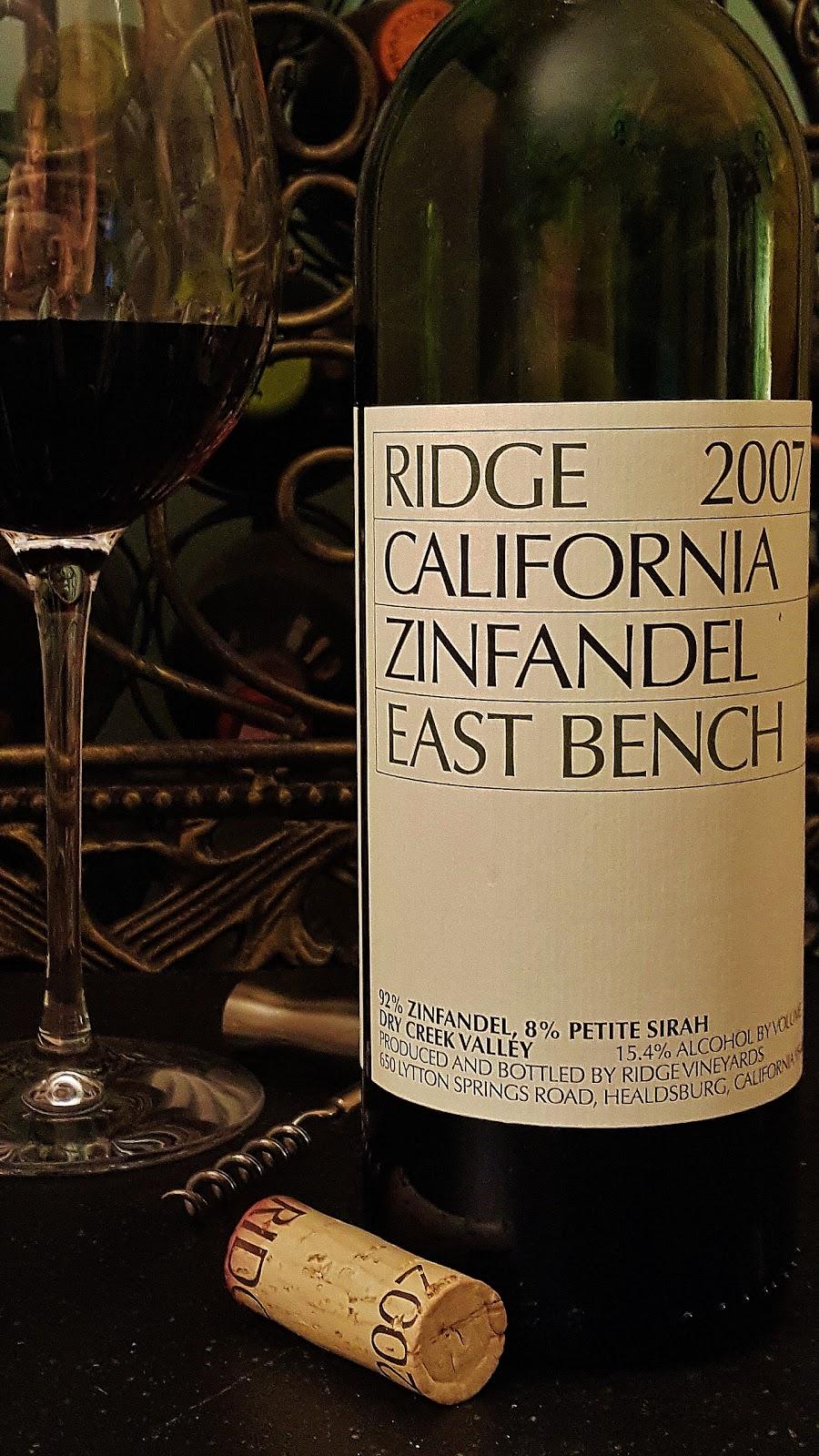 New Hampshire Wine Man Ridge East Bench 2007 Zinfandel