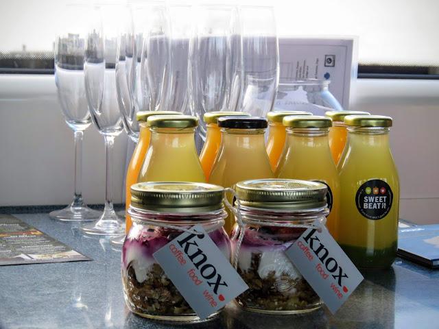 Picnic supplies and champagne glasses in County Sligo, Ireland