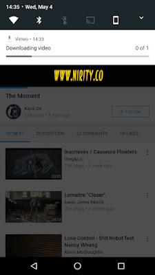 تطبيق Vimeo فى اصداره الجديد يمكنك من تشغيل الفيديوهات اوفلاين