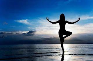 Terlihat cantik dengan yoga beauty