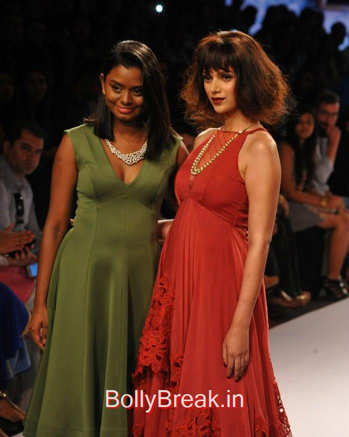 Archana Rao, Aditi Rao Hydari, Aditi Rao Hydari in red Dress, Lakme Fashion Week 2015