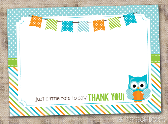 photograph about Printable Thank You Cards for Kids named Ink Obsession Plans: Contemporary! Pumpkin Owl Printable Thank Yourself