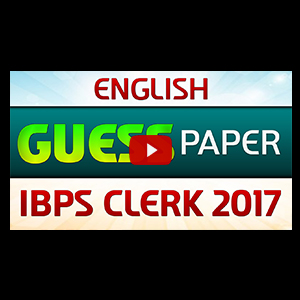 Guess Paper | English | IBPS CLERK 2017
