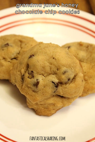 Grandma Jane's Honey Chocolate Chip Cookies // My grandma's recipe for chocolate chip cookies that are the most addictive cookies in the world! #honey #cookies #FantasticalFoodFight #dessert #chocolate