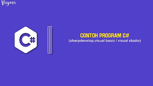 program C# sederhana dan mudah