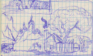 House in the Wilds drawing