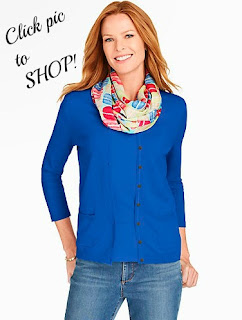 Talbots Charming Cardigan in Ultramarine Blue
