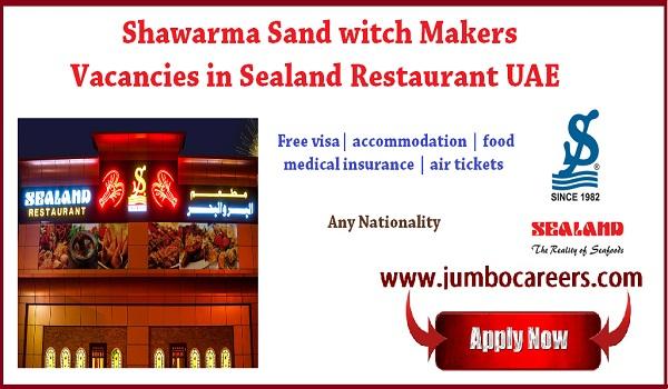 Latest UAE Restaurant jobs for Indians, Current jobs in UAE, Latest Executive Chef , Shawarma makers jobs in Ajman UAE-