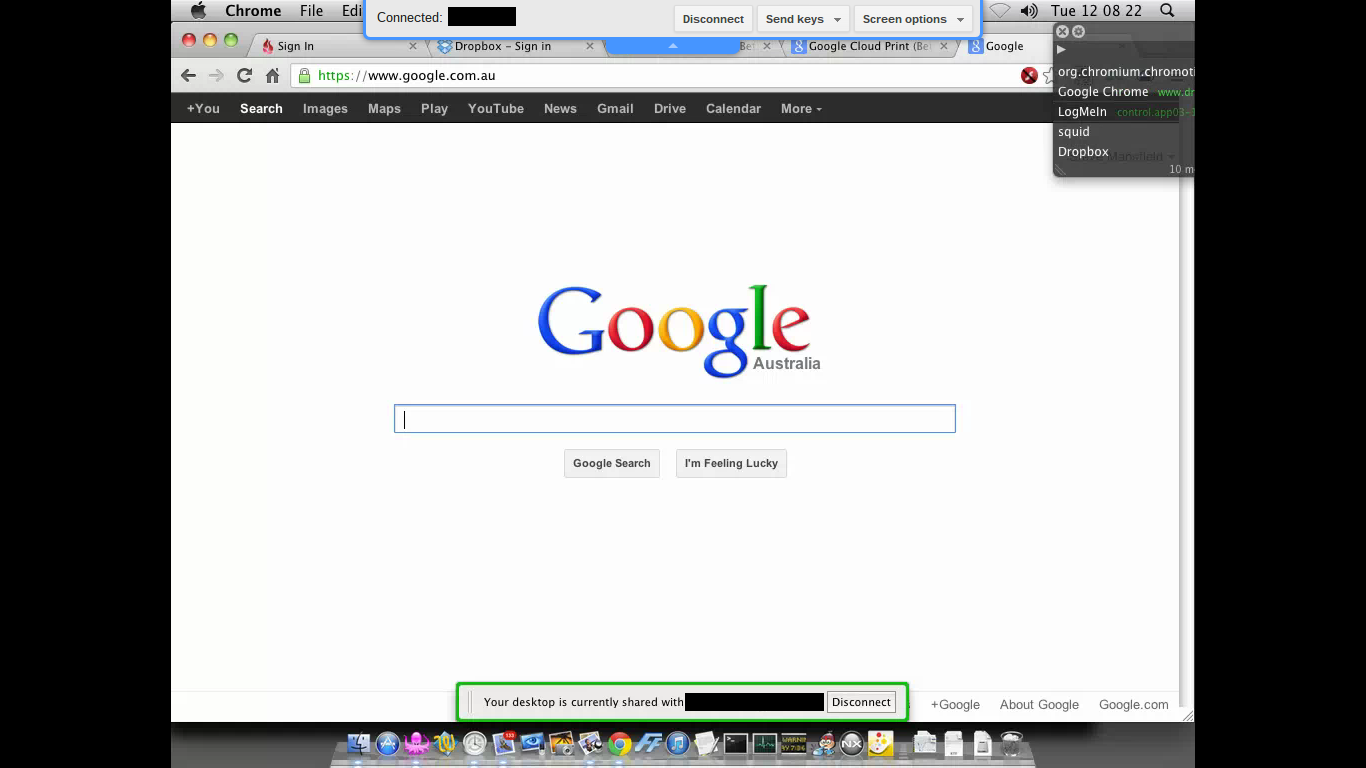 I Found This Useful: Google Chrome Remote Desktop in Full Screen