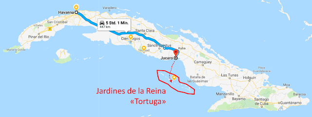 Diving Map Cuba