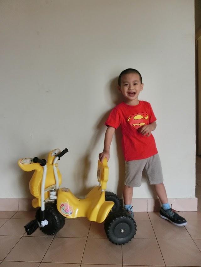 Lil' Iman di usia 3 tahun setengah