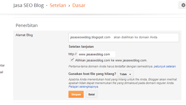 Cara Redirect Domain non WWW ke WWW