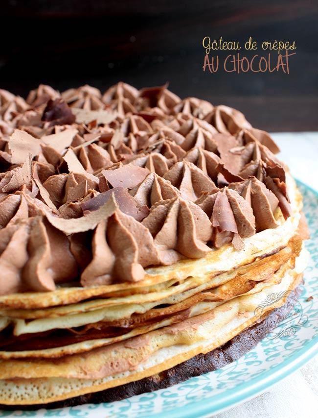 gateau de crepes chocolat