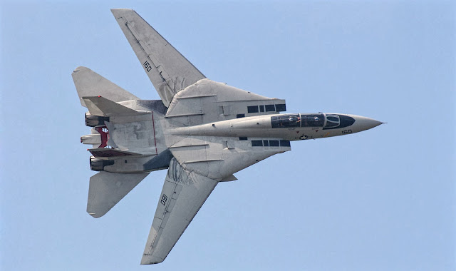 F-14 Tomcat of Grumman at Fully Retracted Wings