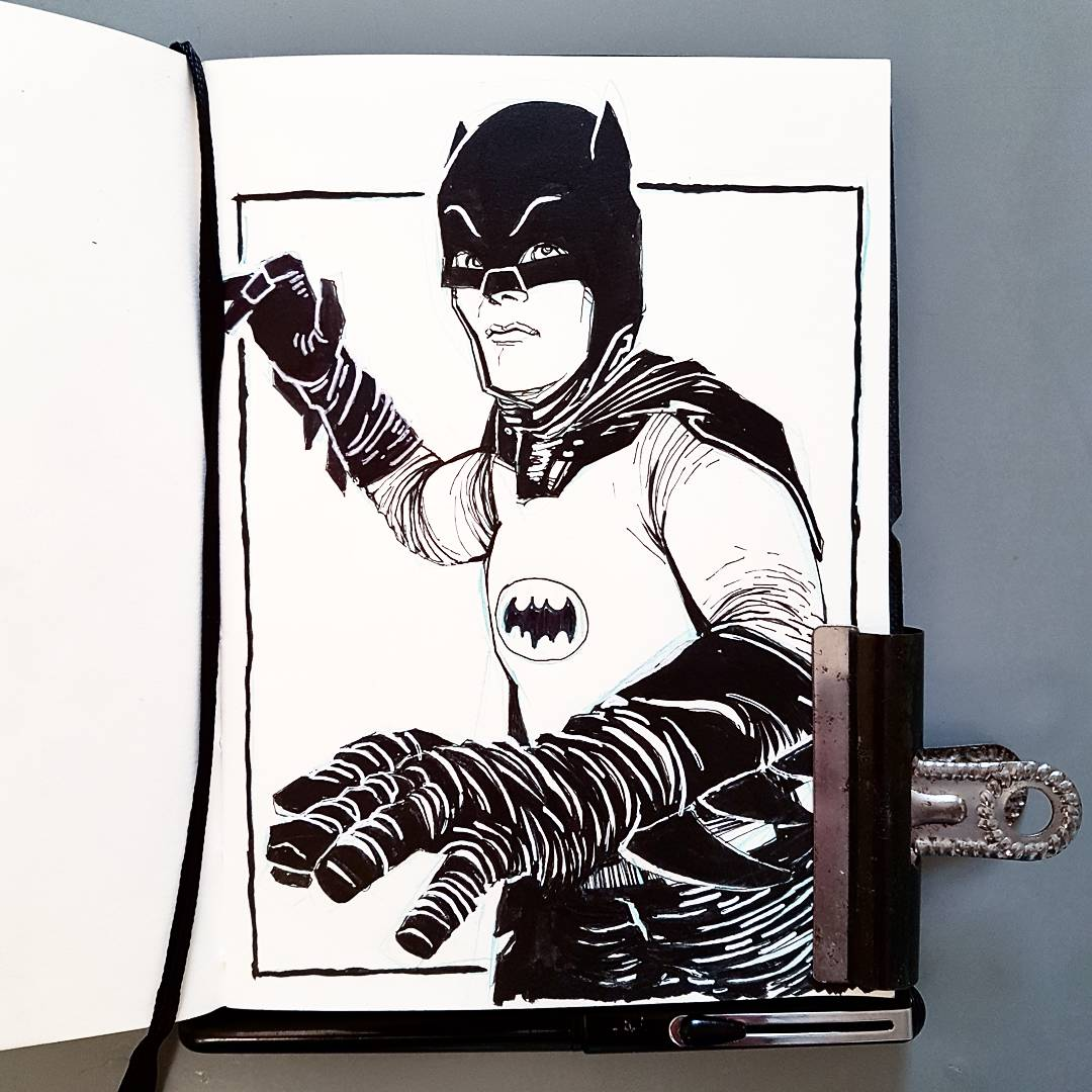 Adam West Batman sketchbook
