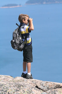 William watching the ocean in Maine :: Keep your dreams!